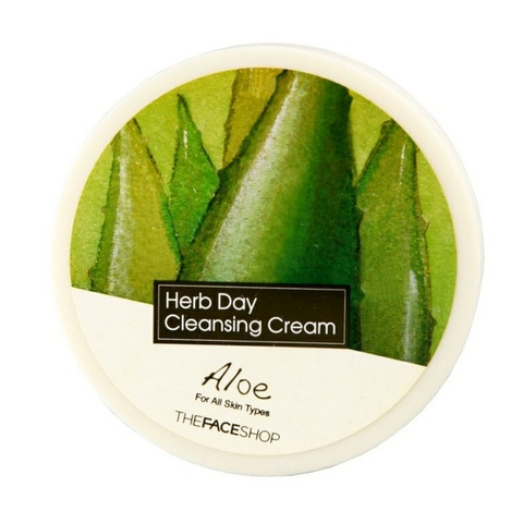 Kem Tẩy Trang Lô hội Herb Day Cleansing Cream The Face Shop 150g