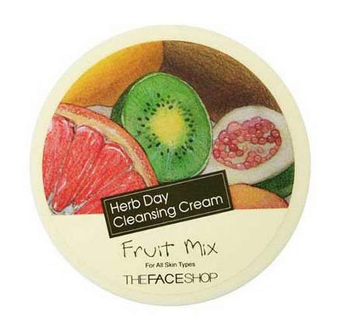 Kem Tẩy Trang Trái Cây Herb Day Cleansing Cream Fruit Mix The Face Shop