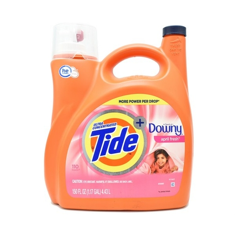 Nước Giặt Xả Tide Plus Downy April Fresh Mỹ 4.43L