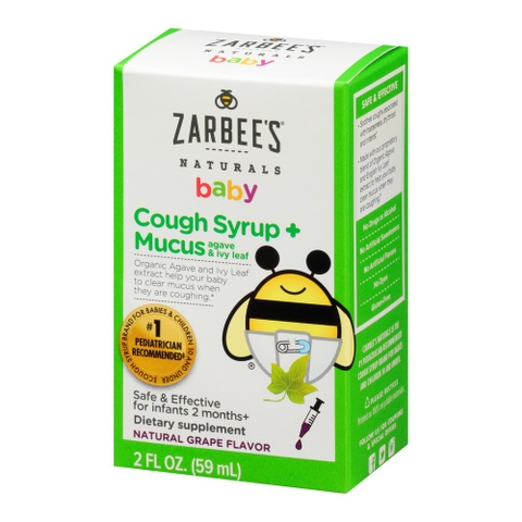 SIRO HO CHO BÉ ZARBEE'S BABY COUGH SYRUP MUCUS AGAVE & IVY LEAF 59ML