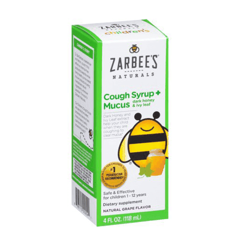SIRO HO CHO BÉ ZARBEES COUGH MUCUS DARK HONEY & IVY LEAF 118ML