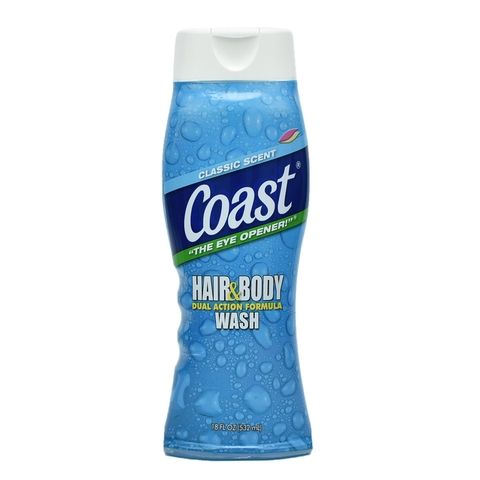 SỮA TẮM GỘI COAST HAIR AND BODY WASH MỸ 532ML
