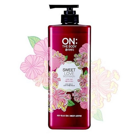 Sữa Tắm Hương Hoa Ly On The Body Sweet Love Perfume Wash 900ml