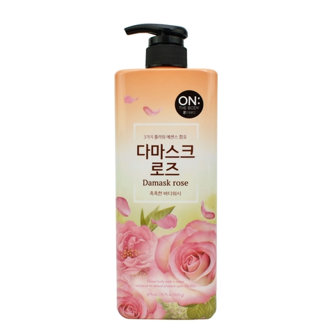 SỮA TẮM NƯỚC HOA ON THE BODY DAMASK ROSE 900G