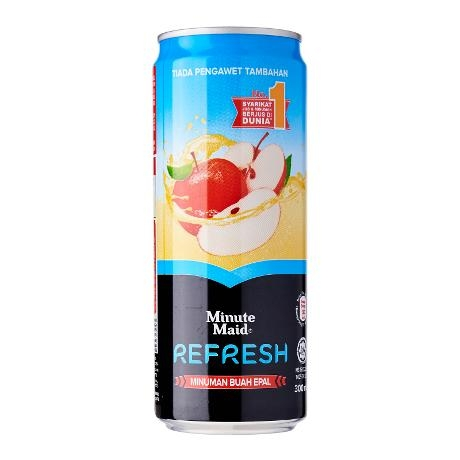 Minute Maid Refresh Apple Juice Drink Sleek 330ml