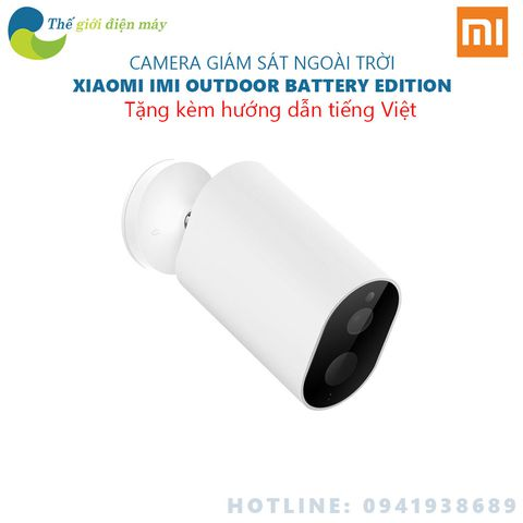 Camera IP ngoài trời Xiaomi Outdoor Battery Edition