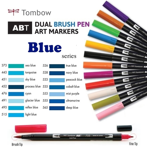 Bút maker Tombow Dual Brush (Blue series)
