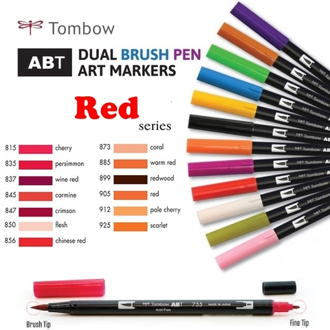 Bút maker Tombow Dual Brush (Red series)