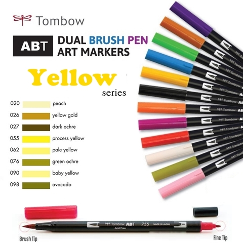 Bút maker Tombow Dual Brush (Yellow series)