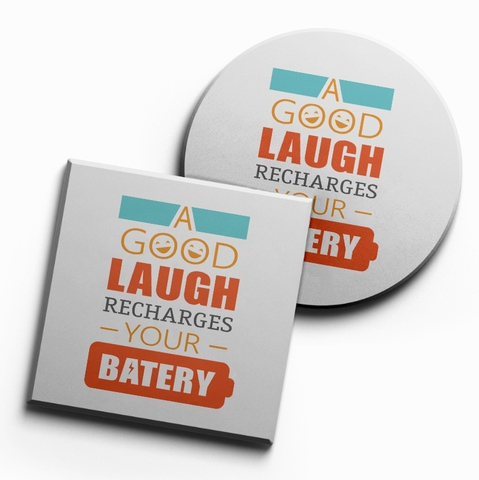 Lót ly A good laugh rechage your batery (bộ 6 chiếc)