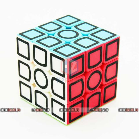 Lefun Hollow Carbon Sticker 3x3x3