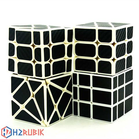 The Lefun Hollow Sticker Monochrome Cube Gift Box Combo Rubik Carbon