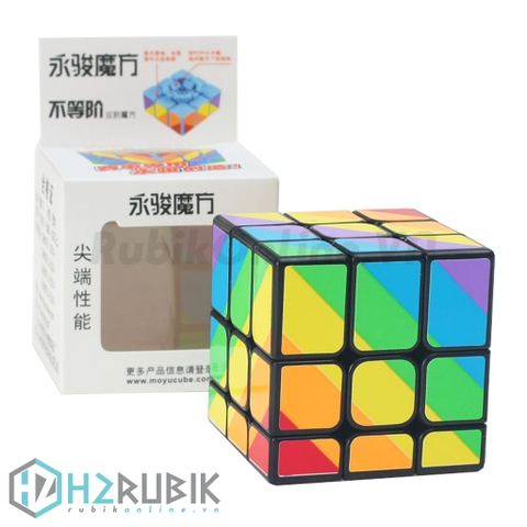 YJ Unequal 3x3 rainbow (Inequilateral) | H2 Rubik - RubikOnline.VN