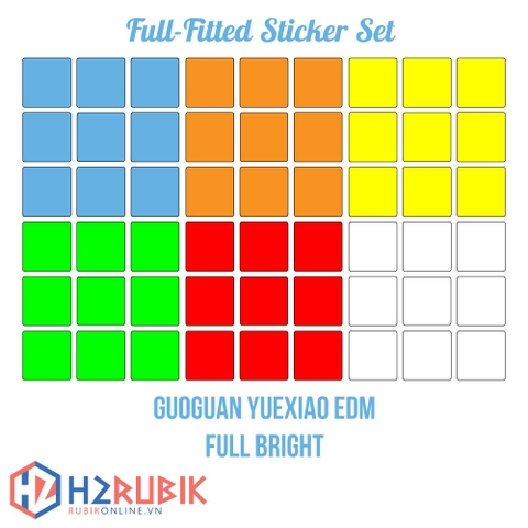 GuoGuan YueXiao EDM Full Fitted Sticker Set
