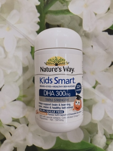 VIÊN NHAI NATURE'S WAY KIDS SMART DHA 300MG TRIPLE STRENGTH - 50 VIÊN