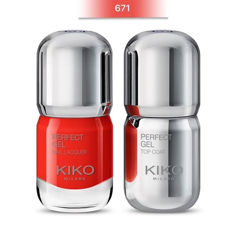 SET SƠN MÓNG KIKO PERFECT GEL DOU NAIL LACQUER  2 CHAI