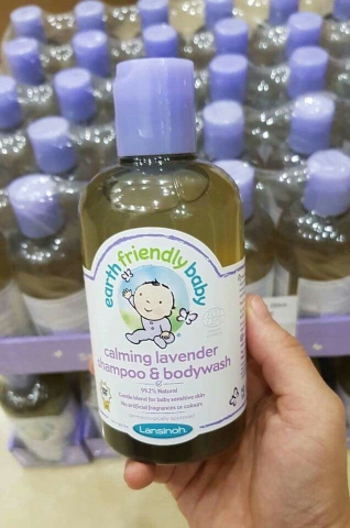 TẮM GỘI EARTH FRIENDLY BABY LANVENDER 250 ML