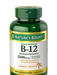 VITAMIN B 12 2500 MG NATURA BOUNTY