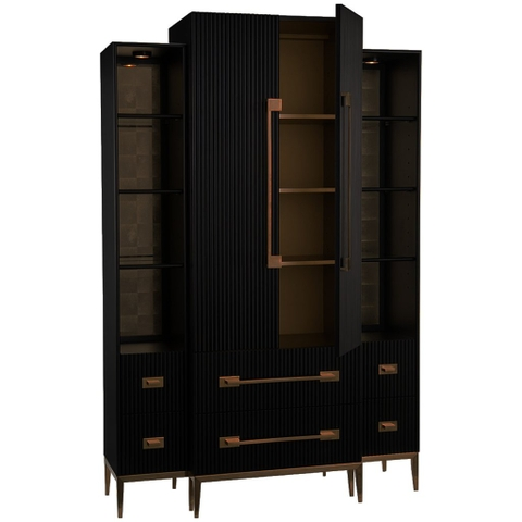 Black Satin Display Cabinet