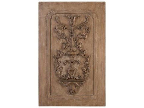Acacia And Celtis Carved Wall Panel by JR