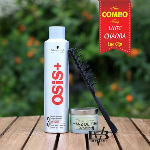 Combo Gôm Osis+ 3 Session Finish 300ml + Sáp Hanz De Fuko Quicksand 56g