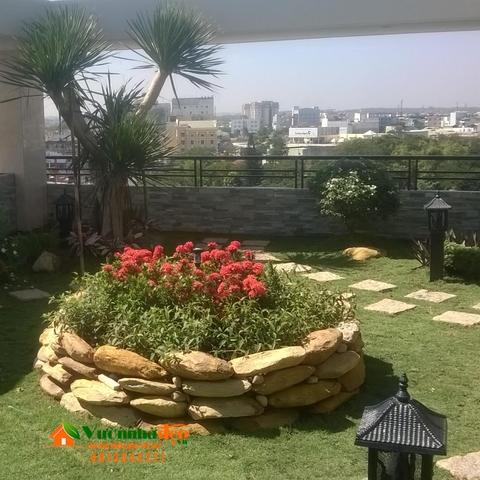 Thi công sân vườn trên sân thượng