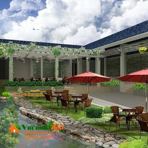 Thiết kế cà phê sân vườn 1