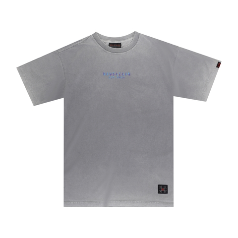 HOLOGRAM PIGMENT WASH TEE - GREY