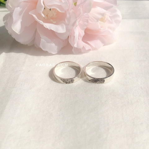 Fingerprint Rings Couple