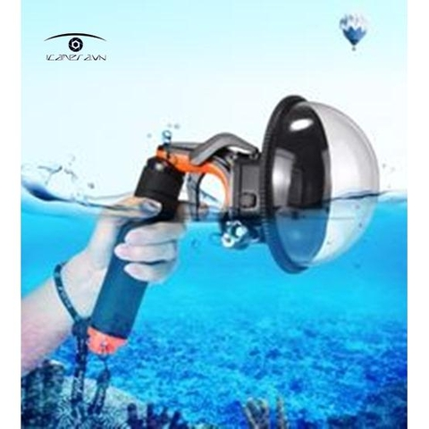 Dome port dành cho GoPro 5 Cover with Waterproof Case Housing Floating Handle Pistol Trigger