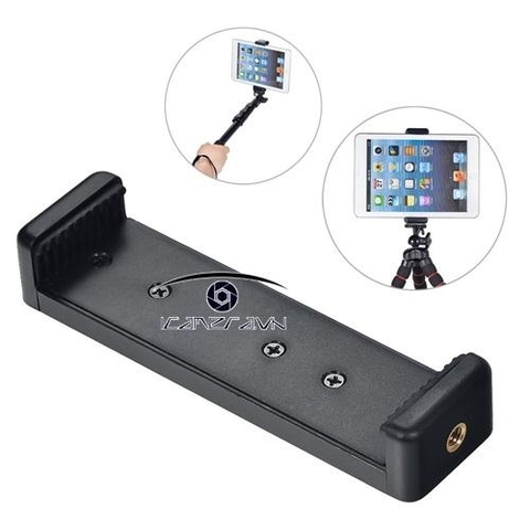 Gá kẹp iPad mini lên tripod Tablet Tripod Mount Adapter độ rộng 112-142mm