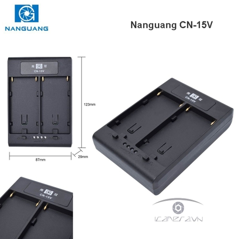 Adapter Nanguang CN-15V chuyển pin NP-F series sang V-mount
