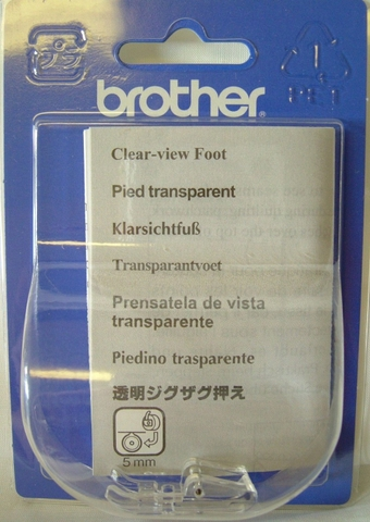 Chân vịt may đắp trong suốt Brother F022N (Clear View Foot Vertical)