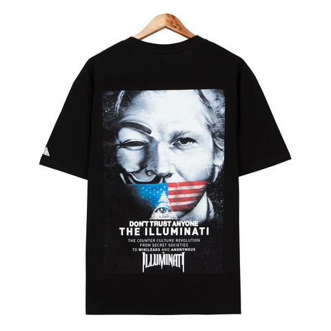 Áo thun illuminati Poster black FT0045
