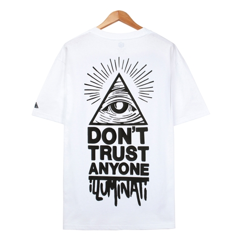 Áo thun illuminati Don't trust white FT0033