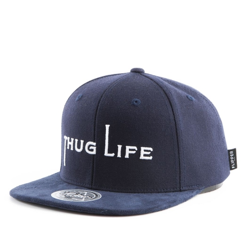 Nón Snapback FLIPPER THUG Simple FL429 (Xanh navy)