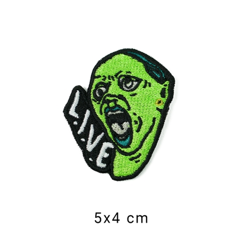 Patch ủi LIVE ICONIC GREEN SKIN M053