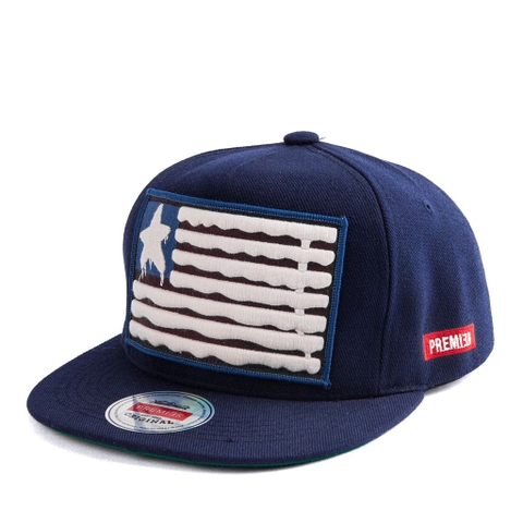 Nón Snapback PREMI3R USA PATCH P138 (Xanh Navy)