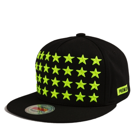 [outlet] Nón hiphop 28STAR COTTON/BL.FLUORESCENCE black/green