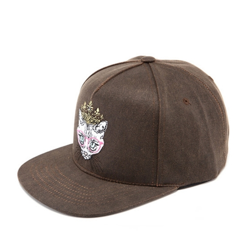 [outlet] Nón Hiphop WAXING CROWN KIDDY brown