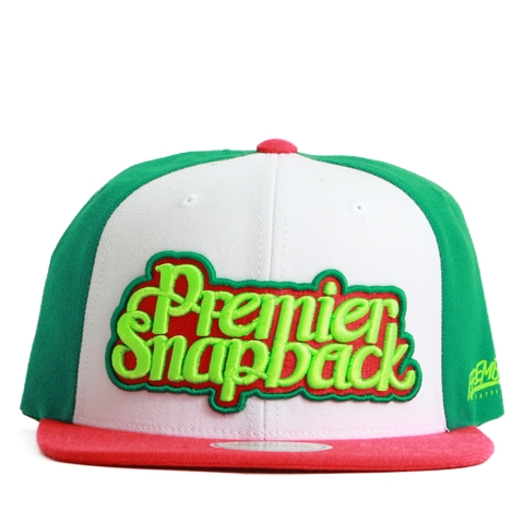 [M] Nón hiphop PREMIER TWO LINE /RED,GREEN P865