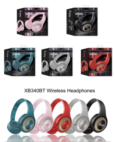 Tai nghe bluetooth XB340BT Headphone @#1c5