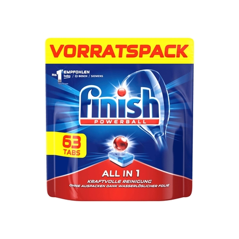Viên rửa bát Finish Spülmaschinen-Tabs All-in-One Vorratspack