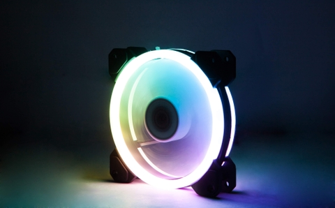 FAN CASE XIGMATEK GALAXY ELITE - (CY120) - EN40261 - RGB : 2 SIDE RING (WHITEBOX)