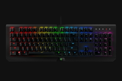 Keyboard Razer BlackWidow Chroma V2 - Mechanical Gaming Keyboard - US Layout (Green Switches, Yellow Switch)