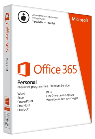 Off 365 Personal English APAC EM Subscr 1YR Medialess P4
