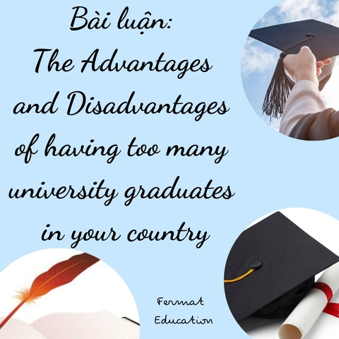 DISCUSS THE ADVANTAGES AND DISADVANTAGES OF HAVING TOO MANY UNIVERSITY GRADUATES IN YOUR COUNTRY