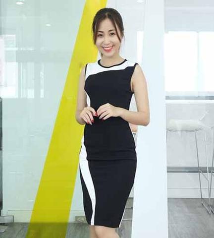 Tự tin với mẫu váy đầm phối màu đẹp - hot trend 2020
