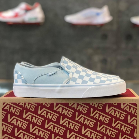 VANS ASHER 'CHECKERBOARD BABY BLUE'