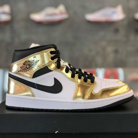 NIKE AIR JORDAN 1 MID SE 'METALLIC GOLD'